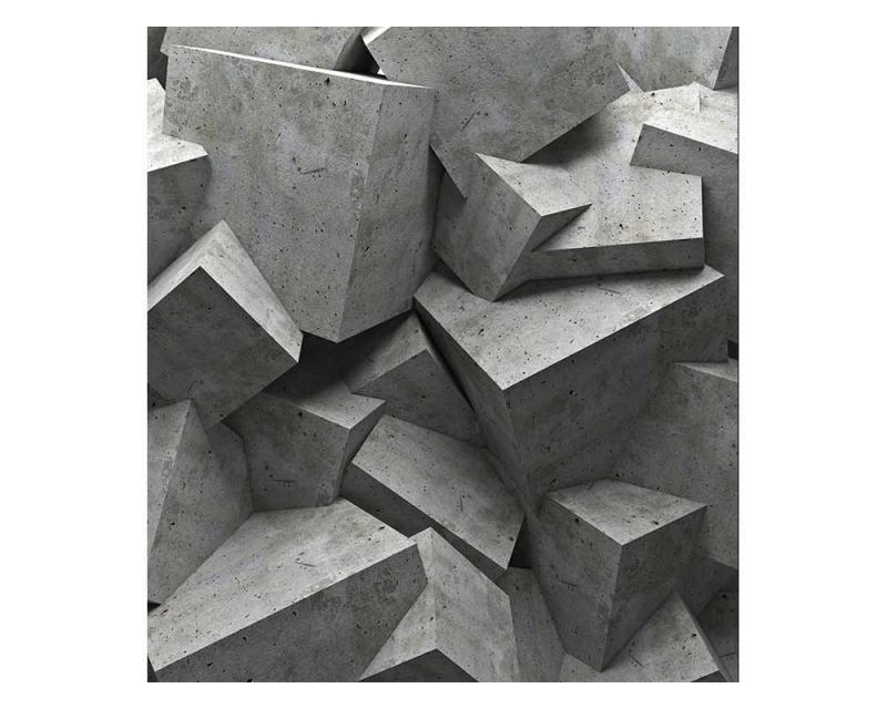 Vliesové fototapety na zeď 3D betonové kvádry | MS-3-0176 | 225x250 cm - Fototapety vliesové