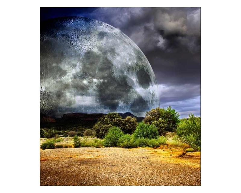 Vliesové fototapety na zeď Měsíc | MS-3-0185 | 225x250 cm - Fototapety vliesové