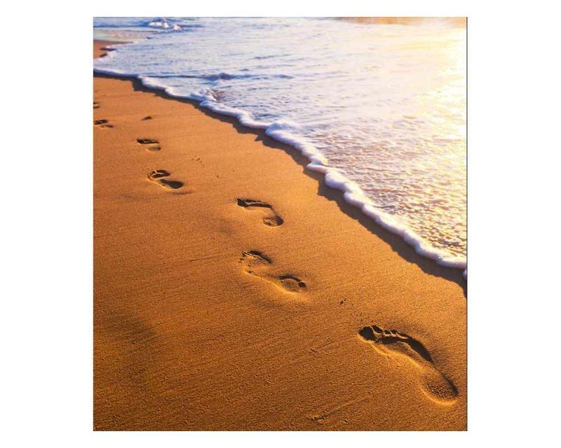 Vliesové fototapety na zeď Stopy na pláži | MS-3-0193 | 225x250 cm - Fototapety vliesové
