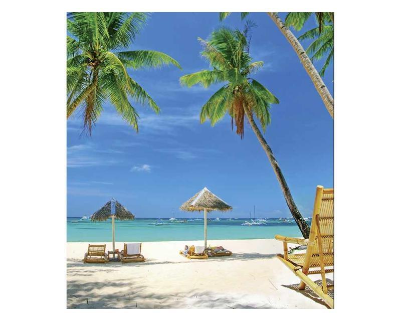 Vliesové fototapety na zeď Tropická pláž | MS-3-0195 | 225x250 cm - Fototapety vliesové