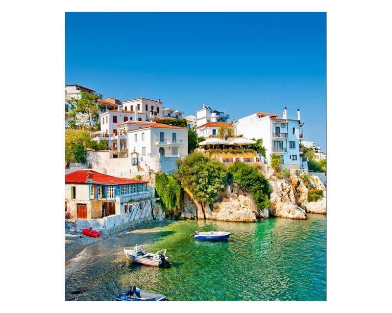 Vliesové fototapety na zeď Řecké pobřeží | MS-3-0197 | 225x250 cm - Fototapety vliesové
