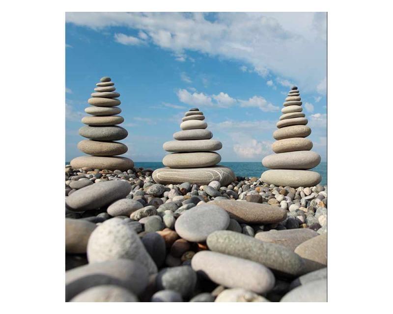 Vliesové fototapety na zeď Kameny na pláži   MS-3-0204   225x250 cm - Fototapety vliesové