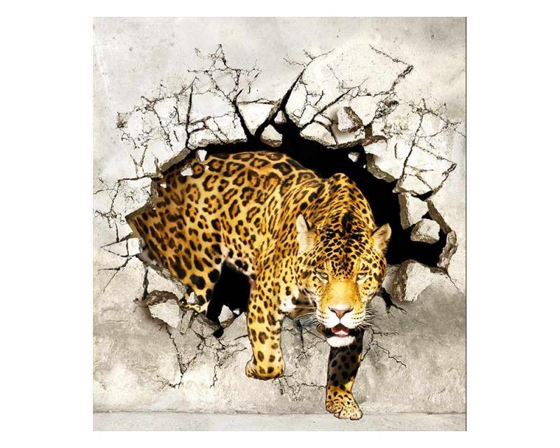 Vliesové fototapety na zeď Panter na lovu | MS-3-0233 | 225x250 cm - Fototapety vliesové