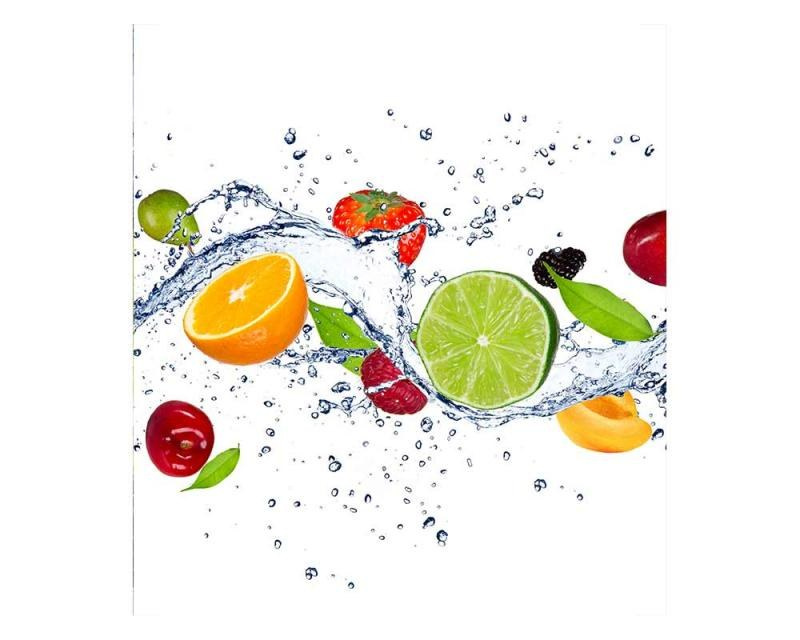 Vliesové fototapety na zeď Ovoce ve vodě | MS-3-0239 | 225x250 cm - Fototapety vliesové