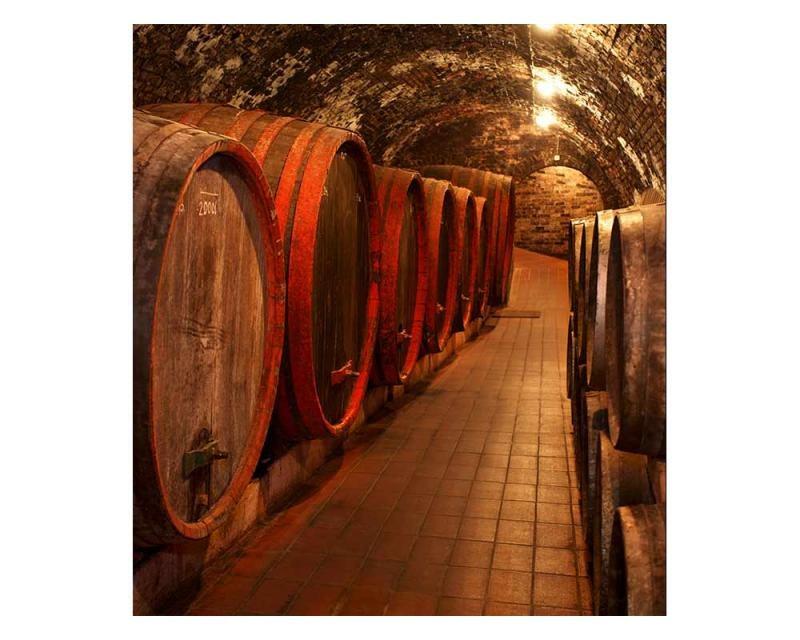 Vliesové fototapety na zeď Sudy s vínem | MS-3-0247 | 225x250 cm - Fototapety vliesové