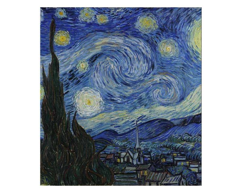Vliesové fototapety na zeď Hvězdná noc od Vincenta van Gogha | MS-3-0250 | 225x250 cm - Fototapety vliesové