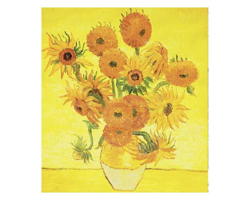 Vliesové fototapety na zeď Slunečnice od Vincenta van Gogha | MS-3-0252 | 225x250 cm - Fototapety vliesové