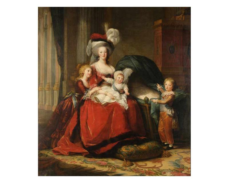 Vliesové fototapety na zeď Marie Antoinetta od Vigeé le Bruna | MS-3-0253 | 225x250 cm - Fototapety vliesové