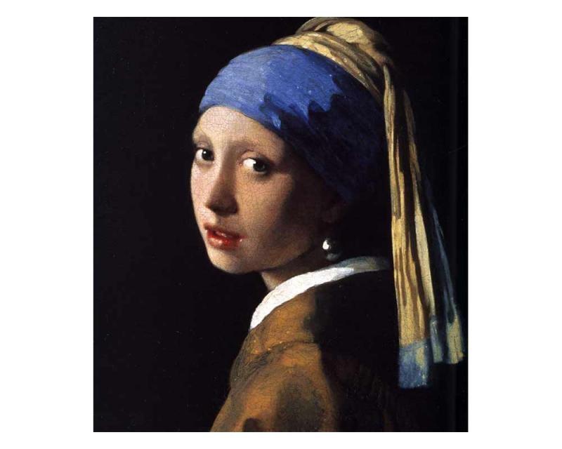 Vliesové fototapety na zeď Dívka s perlovými náušnicemi od Johannese Vermeera | MS-3-0254 | 225x250 cm - Fototapety vliesové