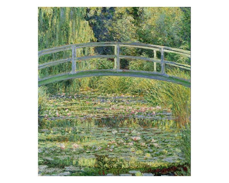 Vliesové fototapety na zeď Rybník s lekníny od Claude Oskara Moneta | MS-3-0255 | 225x250 cm - Fototapety vliesové
