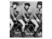 Vliesové fototapety na zeď Ženy na kole | MS-3-0260 | 225x250 cm Fototapety vliesové