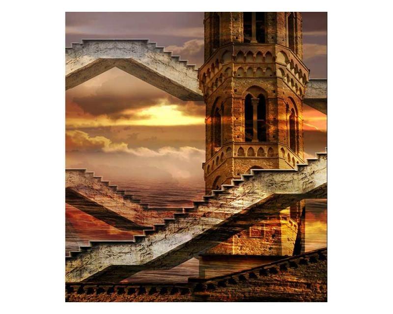 Vliesové fototapety na zeď Éterická věž   MS-3-0265   225x250 cm - Fototapety vliesové