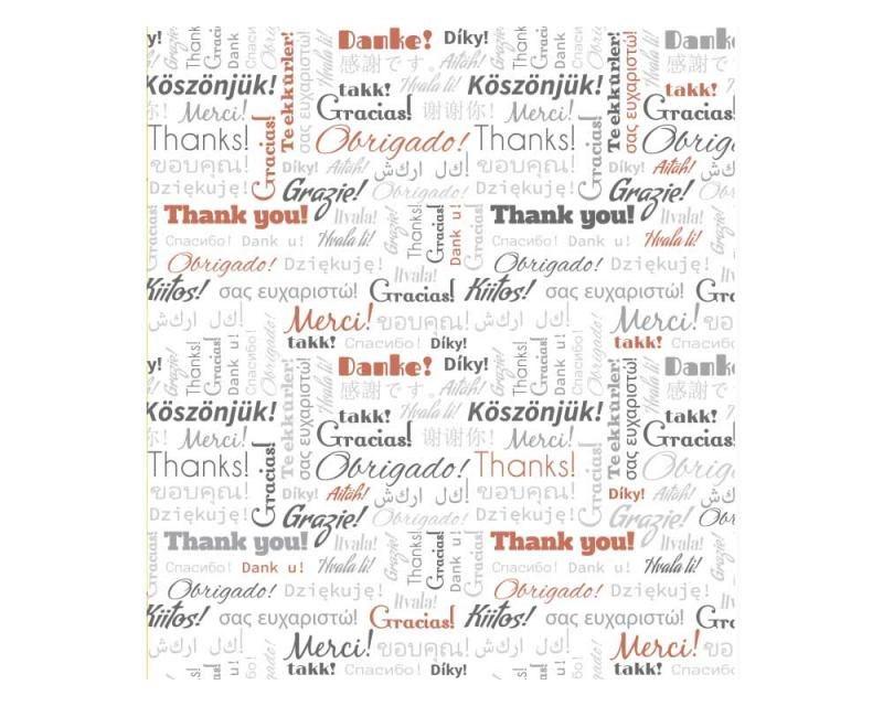 Vliesové fototapety na zeď Nápisy děkuji | MS-3-0266 | 225x250 cm - Fototapety vliesové