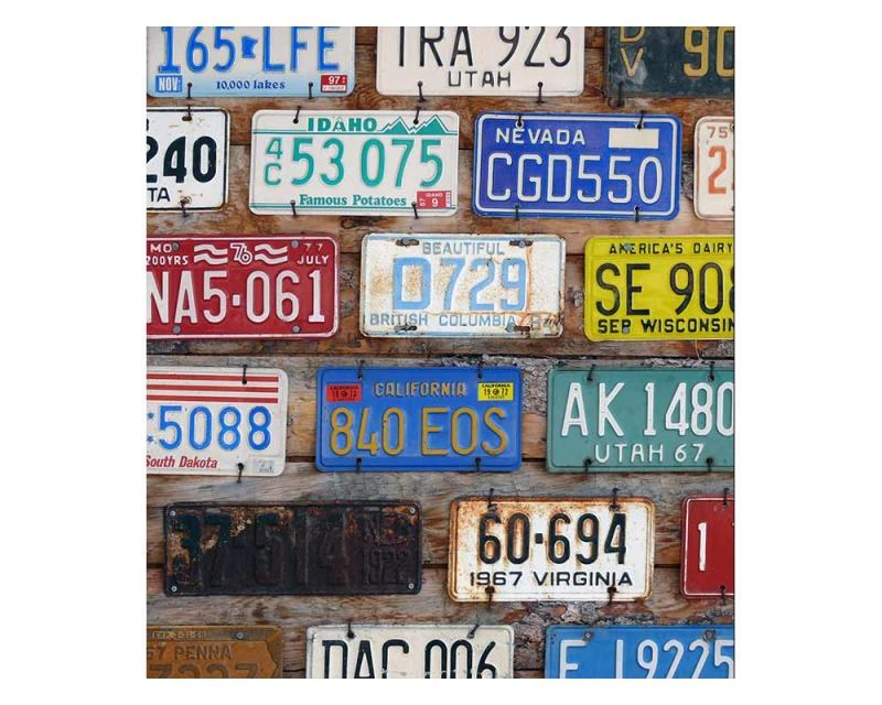 Vliesové fototapety na zeď Poznávací čísla | MS-3-0269 | 225x250 cm - Fototapety vliesové