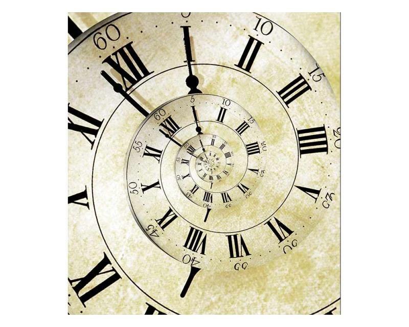 Vliesové fototapety na zeď Spirálové hodiny | MS-3-0272 | 225x250 cm - Fototapety vliesové