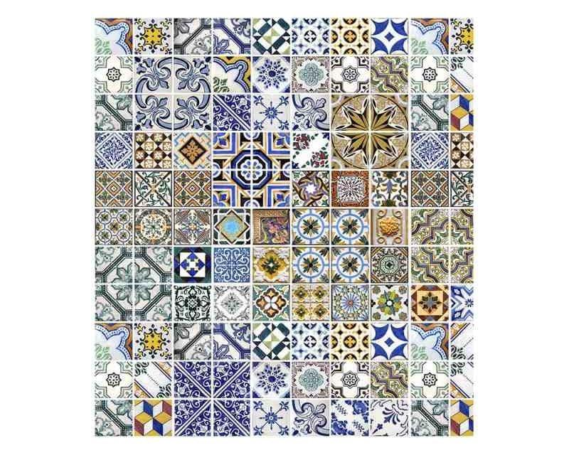 Vliesové fototapety na zeď Portugalské dlaždice | MS-3-0275 | 225x250 cm - Fototapety vliesové