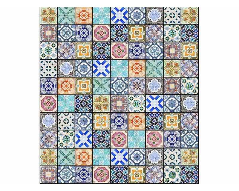 Vliesové fototapety na zeď Starobylé kachličky | MS-3-0276 | 225x250 cm - Fototapety vliesové