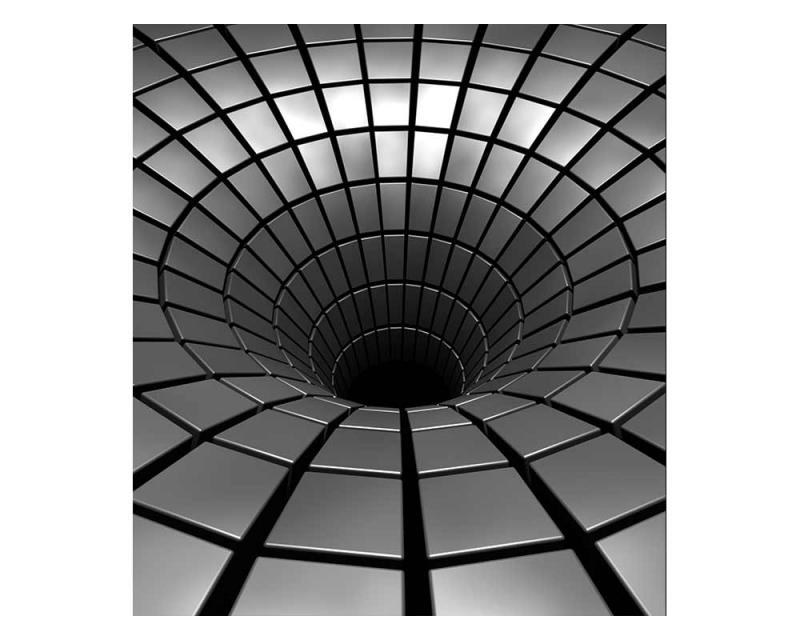 Vliesové fototapety na zeď 3D stříbrná propast | MS-3-0278 | 225x250 cm - Fototapety vliesové