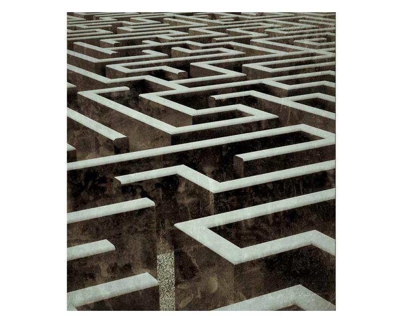 Vliesové fototapety na zeď 3D labyrint | MS-3-0279 | 225x250 cm - Fototapety vliesové