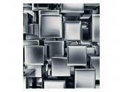 Vliesové fototapety na zeď 3D metalové kostky | MS-3-0285 | 225x250 cm Fototapety vliesové