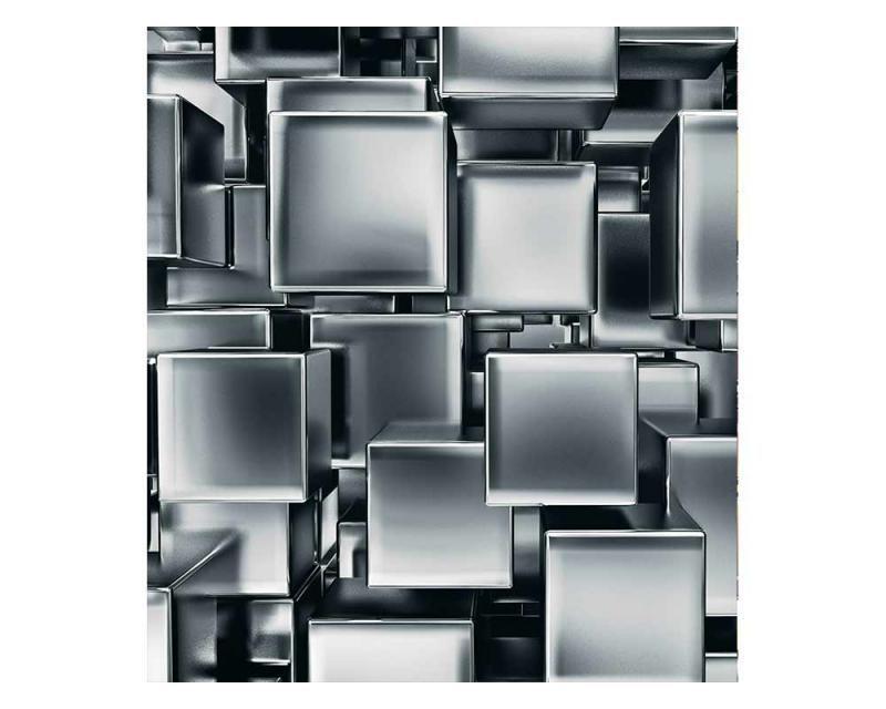 Vliesové fototapety na zeď 3D metalové kostky | MS-3-0285 | 225x250 cm - Fototapety vliesové