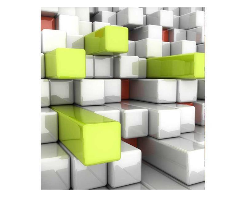 Vliesové fototapety na zeď 3D kostky | MS-3-0286 | 225x250 cm - Fototapety vliesové
