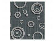 Vliesové fototapety na zeď 3D kovové kruhy | MS-3-0302 | 225x250 cm Fototapety vliesové