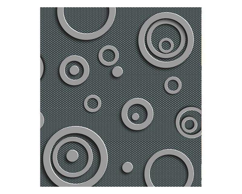 Vliesové fototapety na zeď 3D kovové kruhy | MS-3-0302 | 225x250 cm - Fototapety vliesové