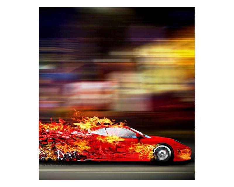 Vliesové fototapety na zeď Závodní auto | MS-3-0309 | 225x250 cm - Fototapety vliesové