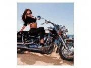 Vliesové fototapety na zeď Dívka na motorce | MS-3-0312 | 225x250 cm Fototapety vliesové