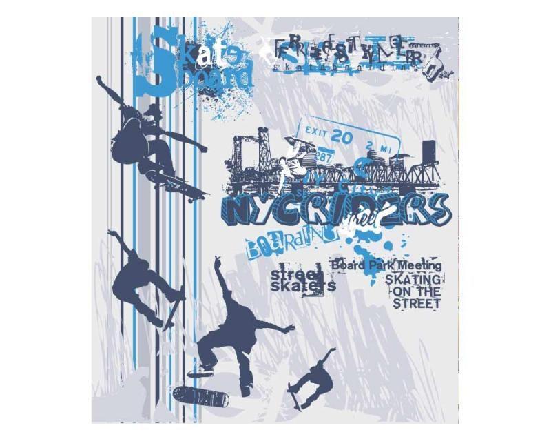 Vliesové fototapety na zeď Skate | MS-3-0313 | 225x250 cm - Fototapety vliesové