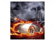 Vliesové fototapety na zeď Auto v plamenech | MS-3-0314 | 225x250 cm Fototapety vliesové