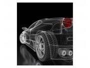 Vliesové fototapety na zeď Tmavý model auta | MS-3-0315 | 225x250 cm Fototapety vliesové