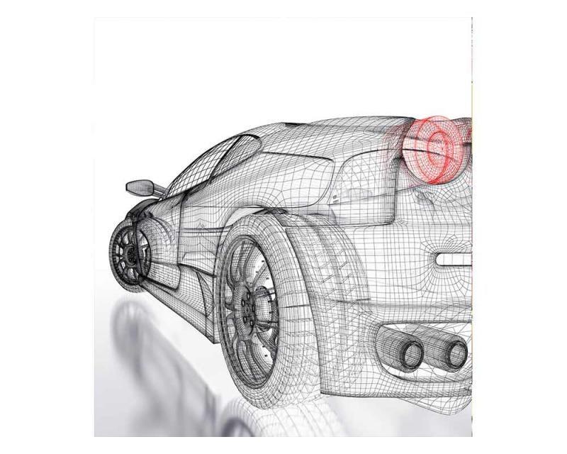 Vliesové fototapety na zeď Světlý model auta | MS-3-0316 | 225x250 cm - Fototapety vliesové