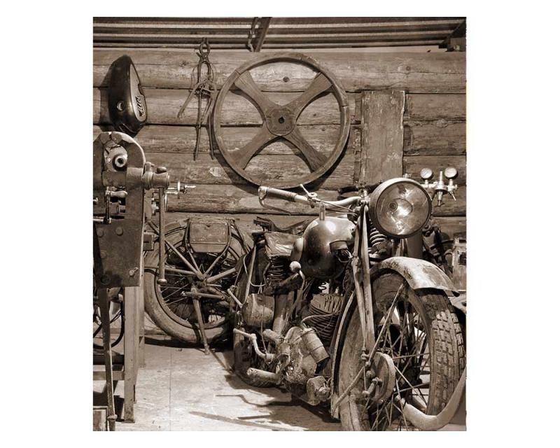 Vliesové fototapety na zeď Starobylá garáž | MS-3-0319 | 225x250 cm - Fototapety vliesové