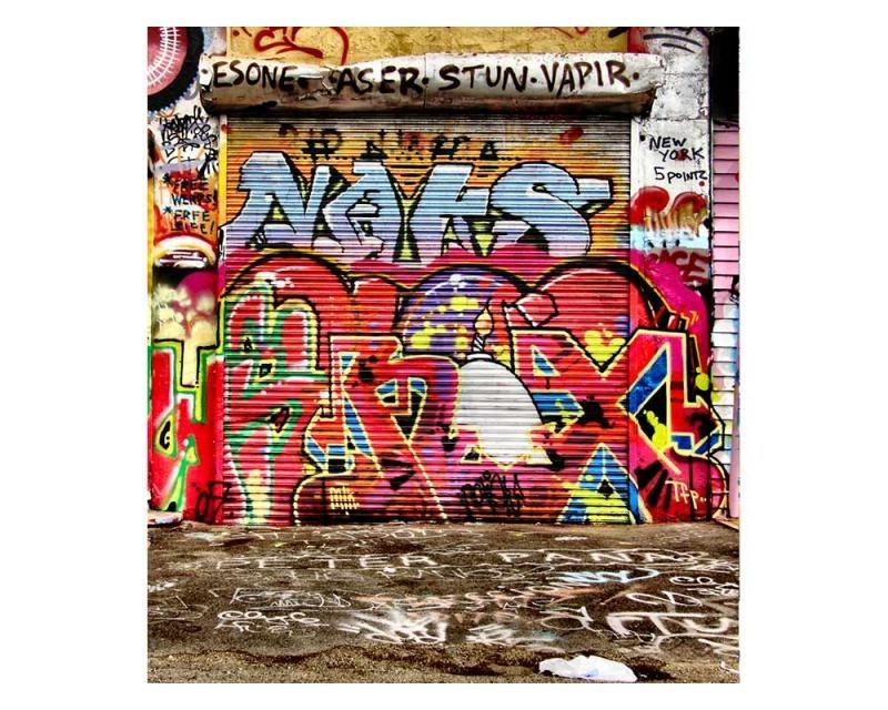 Vliesové fototapety na zeď Ulice s graffiti   MS-3-0321   225x250 cm - Fototapety vliesové