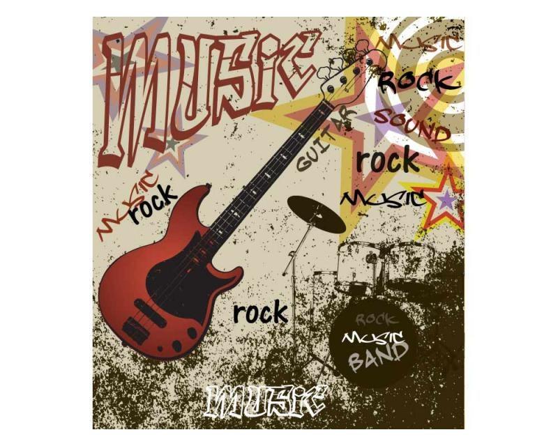 Vliesové fototapety na zeď Červená kytara | MS-3-0324 | 225x250 cm - Fototapety vliesové