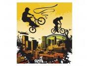 Vliesové fototapety na zeď Cyklisti | MS-3-0326 | 225x250 cm Fototapety vliesové