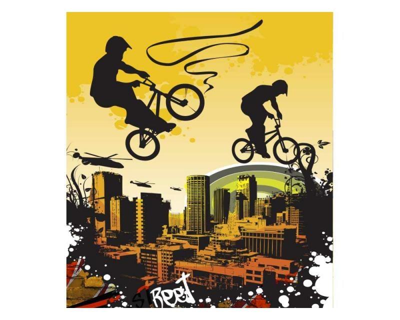 Vliesové fototapety na zeď Cyklisti | MS-3-0326 | 225x250 cm - Fototapety vliesové