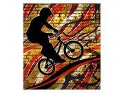 Vliesové fototapety na zeď Červené kolo | MS-3-0327 | 225x250 cm Fototapety vliesové