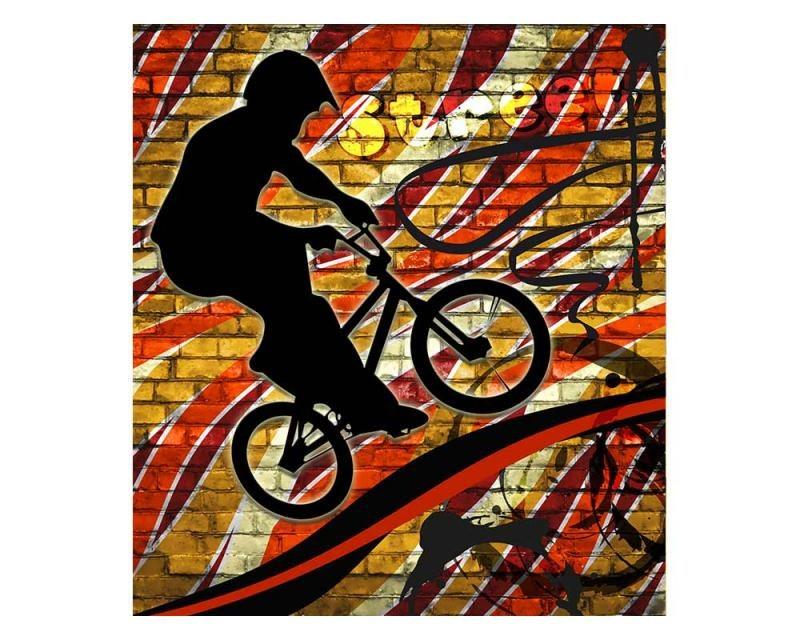 Vliesové fototapety na zeď Červené kolo | MS-3-0327 | 225x250 cm - Fototapety vliesové