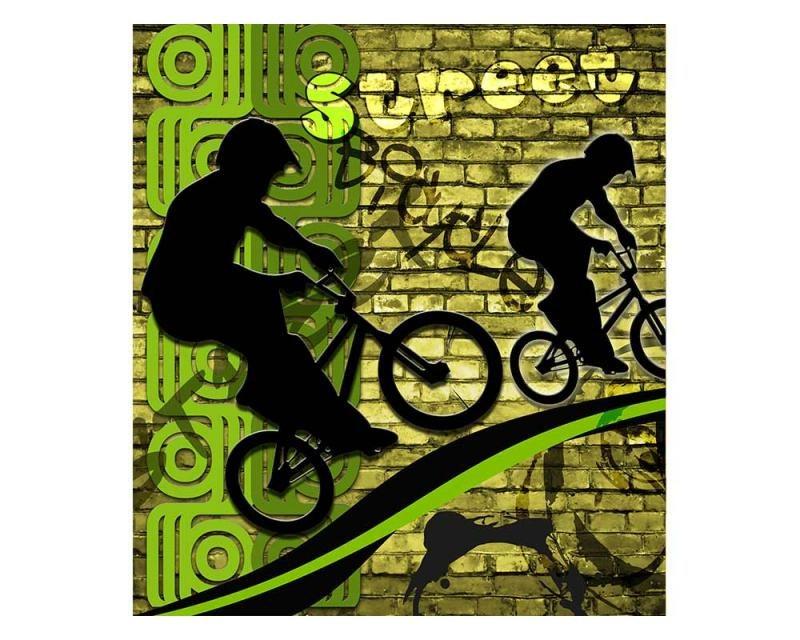 Vliesové fototapety na zeď Zelené kolo | MS-3-0328 | 225x250 cm - Fototapety vliesové