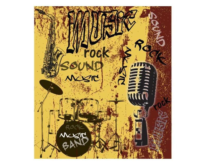 Vliesové fototapety na zeď Žlutá hudba | MS-3-0330 | 225x250 cm - Fototapety vliesové