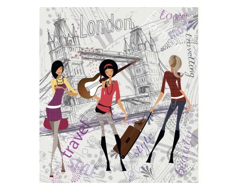 Vliesové fototapety na zeď Londýnský styl | MS-3-0332 | 225x250 cm - Fototapety vliesové