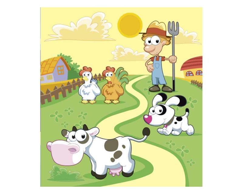 Vliesové fototapety na zeď Zvířátka z farmy | MS-3-0334 | 225x250 cm - Fototapety vliesové