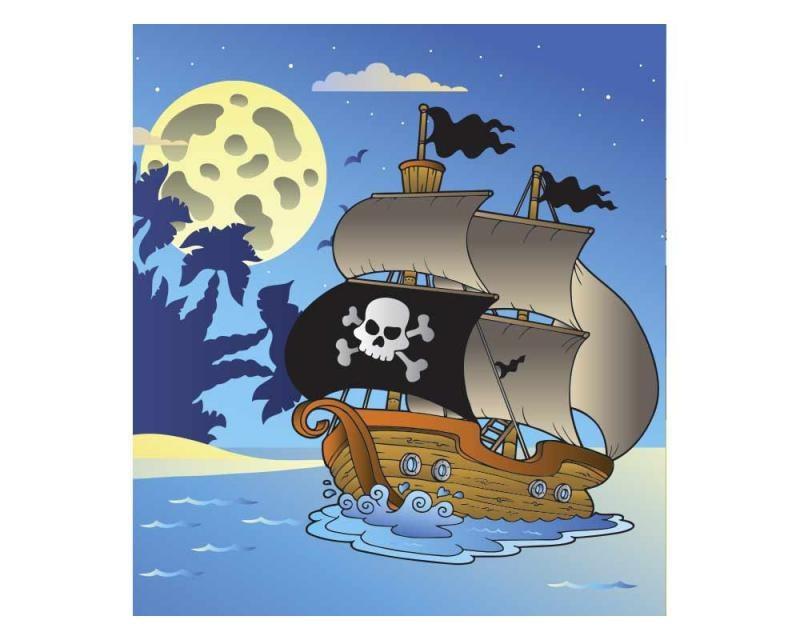 Vliesové fototapety na zeď Pirátská loď | MS-3-0335 | 225x250 cm - Fototapety vliesové