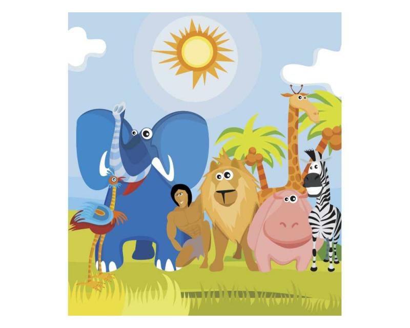 Vliesové fototapety na zeď Zvířátka v Africe | MS-3-0338 | 225x250 cm - Fototapety vliesové