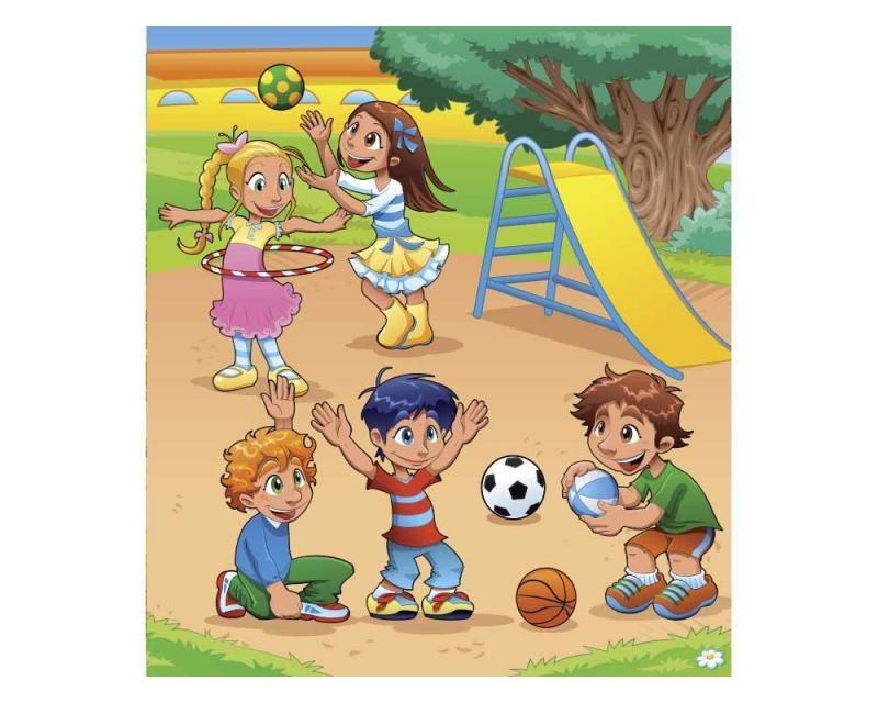Vliesové fototapety na zeď Děti na hřišti | MS-3-0339 | 225x250 cm - Fototapety vliesové