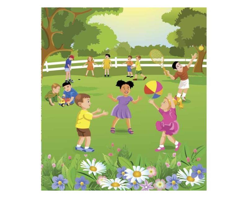 Vliesové fototapety na zeď Děti na zahradě | MS-3-0343 | 225x250 cm - Fototapety vliesové