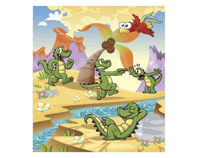Vliesové fototapety na zeď Krokodýlci | MS-3-0344 | 225x250 cm - Fototapety vliesové